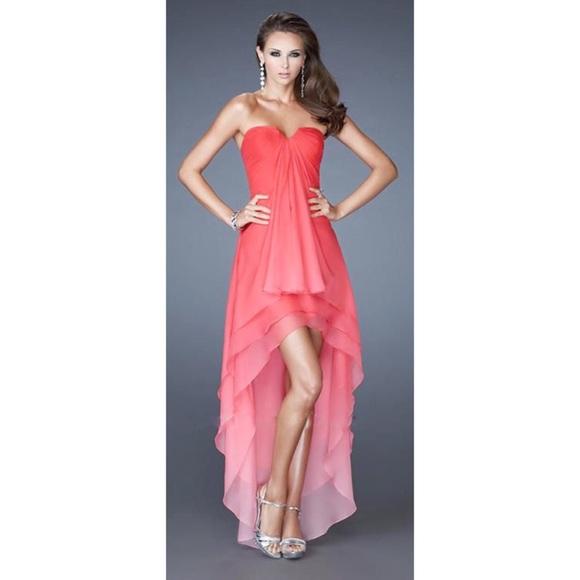 b4e9391a0fd La Femme Dresses   Skirts - LA FEMME OMBRÉ STRAPLESS HI LO GOWN 🌸👗